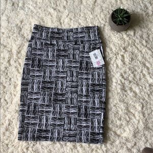 Lularoe Black and white square pencil skirt